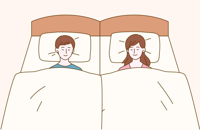シングルベッドの利用イメージ