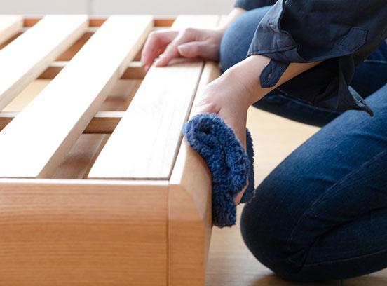木製ベッドの掃除方法
