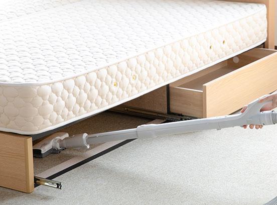 収納付きベッドの掃除方法