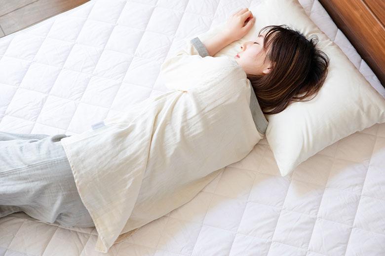 綿100% 抗菌・防臭 オーガニックコットンベッドパッド