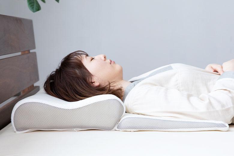 高さ調節可能 頚髄をやさしく支える Luxesleep  SLEEP+PILLOW ピロー
