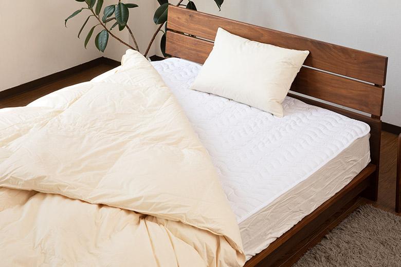 枕と掛け布団とベッドパッドの3点セット(通常サイズ)