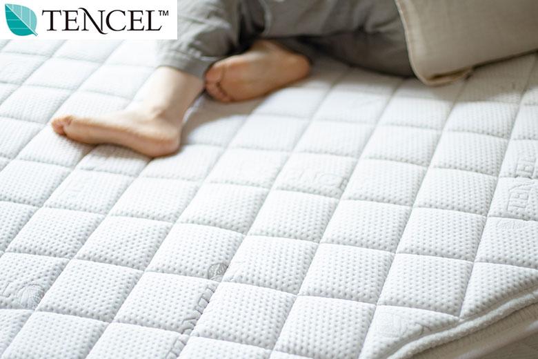 包み込まれるような寝心地 Luxesleep テンセル低反発ベッドパッド