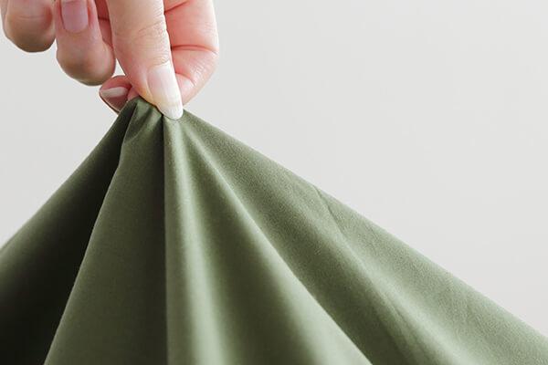 プレーンコレクションは綿100%の丈夫な生地なので洗濯も楽々行うことができます。